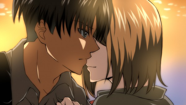 Tags: Anime, Pixiv Id 1274220, Attack on Titan, Levi Ackerman, Petra Ral, Facebook Cover, Wallpaper