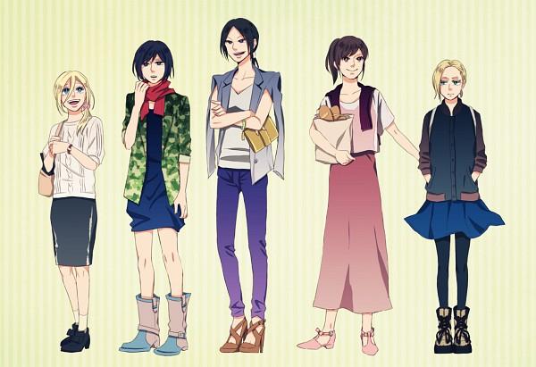 Tags: Anime, Pixiv Id 1261602, Attack on Titan, Christa Renz, Ymir (Shingeki no Kyojin), Mikasa Ackerman, Sasha Braus, Annie Leonhardt, Pixiv