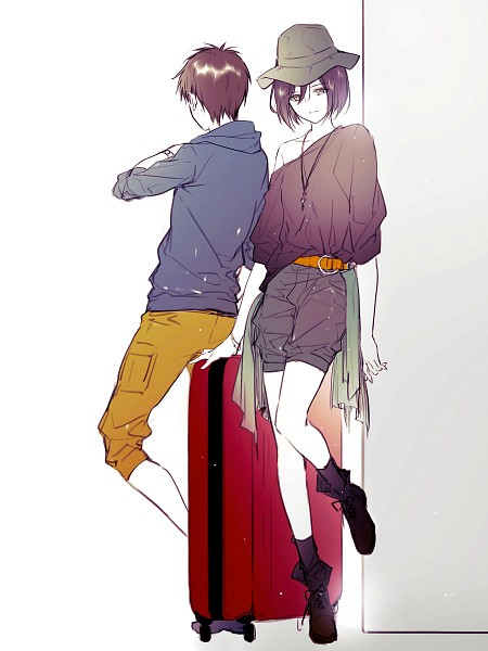 Tags: Anime, Yasai Getsu, Attack on Titan, Eren Jaeger, Mikasa Ackerman, Fanart From Pixiv, Pixiv, Fanart, EreMika