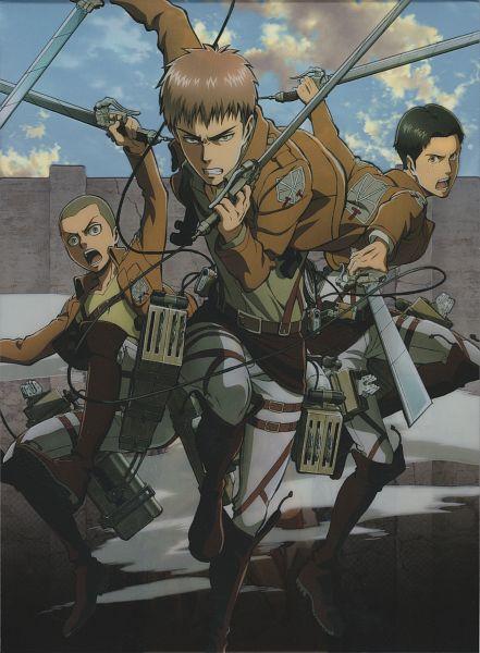 Tags: Anime, Tomita Megumi, WIT STUDIO, Attack on Titan, Conny Springer, Jean Kirschstein, Marco Bodt, DVD (Source), Official Art, Scan