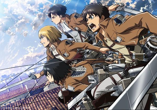 Tags: Anime, Tomita Megumi, WIT STUDIO, Attack on Titan, Armin Arlert, Eren Jaeger, Levi Ackerman, Mikasa Ackerman, Official Art, Scan