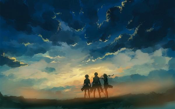 Tags: Anime, Nuriko-kun, Attack on Titan, Armin Arlert, Eren Jaeger, Mikasa Ackerman, Pixiv, Fanart From DeviantART, Wallpaper, Fanart From Pixiv, Fanart, Revision, deviantART