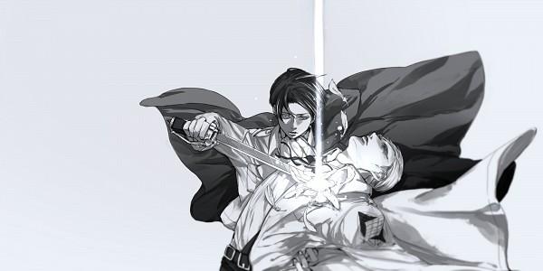 Tags: Anime, Pixiv Id 4977596, Attack on Titan, Levi Ackerman, Erwin Smith, Shoujo Kakumei Utena (Parody), Fanart, Facebook Cover, Wallpaper