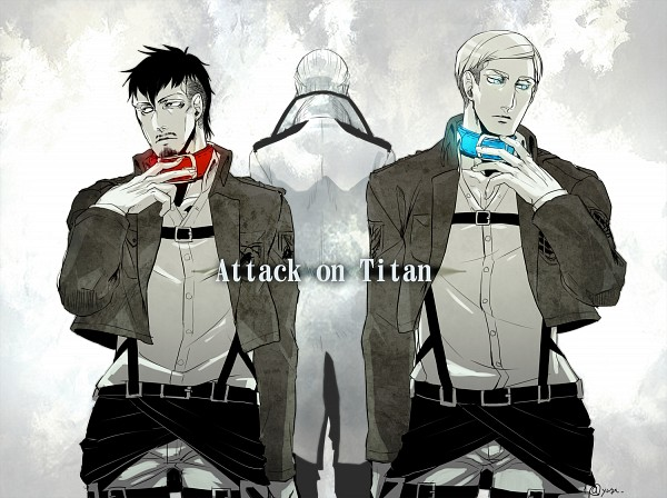 Tags: Anime, Pixiv Id 533596, Attack on Titan, Dhalis Zachary, Nile Doak, Erwin Smith, Pixiv, Fanart, Fanart From Pixiv, PNG Conversion