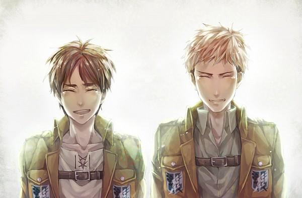 Tags: Anime, Lightning (Pixiv 2456252), Attack on Titan, Jean Kirschstein, Eren Jaeger, Pixiv, Fanart, Fanart From Pixiv, EreJean