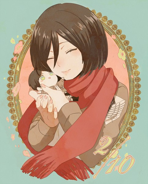 Tags: Anime, Tachibana Amane (Amane01a), Attack on Titan, Eren Jaeger, Mikasa Ackerman, PNG Conversion, Pixiv, Fanart, Fanart From Pixiv, EreMika