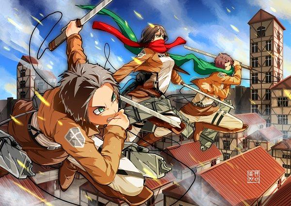 Tags: Anime, Eudetenis, Attack on Titan, Levi Ackerman, Mikasa Ackerman, Eren Jaeger