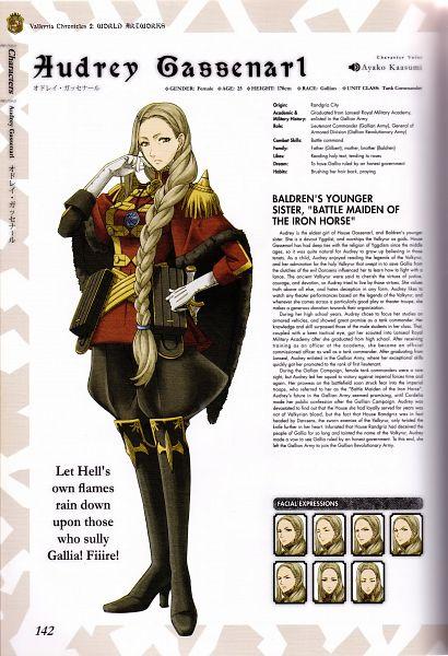 Tags: Anime, Mori Mitsue, Sega, Valkyria Chronicles 2 World Artworks, Valkyria Chronicles 2, Audrey Gassenarl, Scan, Mobile Wallpaper, Official Art