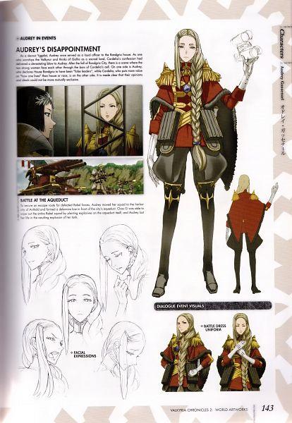 Tags: Anime, Mori Mitsue, Sega, Valkyria Chronicles 2 World Artworks, Valkyria Chronicles 2, Audrey Gassenarl, Scan, Official Art