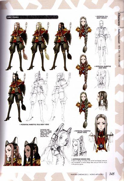 Tags: Anime, Honjou Raita, Sega, Valkyria Chronicles 2 World Artworks, Valkyria Chronicles 2, Audrey Gassenarl, Scan, Official Art