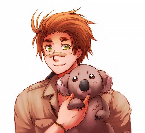 Tags: Anime, Pixiv Id 934500, Axis Powers: Hetalia, Australia, Koala, Pixiv, Fanart