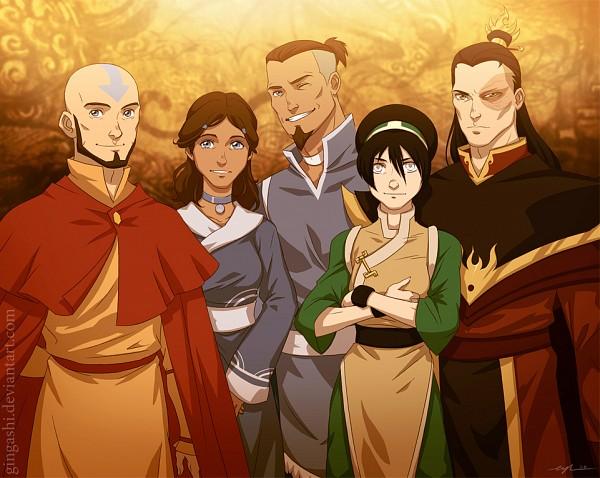 Tags: Anime, Gingashi, Avatar: The Last Airbender, Avatar: The Legend of Korra, Zuko, Aang, Sokka, Katara, Toph Bei Fong, deviantART, Fanart