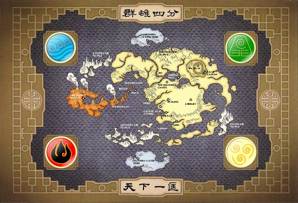 Tags: Anime, Avatar: The Last Airbender, Map, Terre, Element