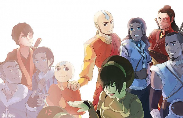 Tags: Anime, Akimiya, Avatar: The Legend of Korra, Avatar: The Last Airbender, Katara, Toph Bei Fong, Zuko, Aang, Sokka, deviantART, Fanart