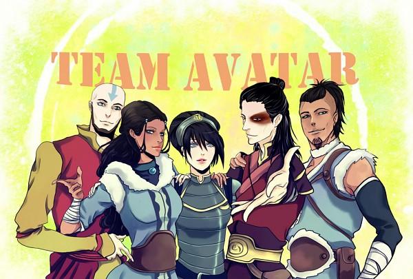 Tags: Anime, Purple-Meow, Avatar: The Last Airbender, Katara, Toph Bei Fong, Zuko, Aang
