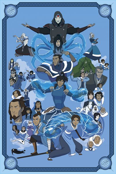 Tags: Anime, Shane Sandulak, Avatar: The Legend of Korra, Avatar: The Last Airbender, Pakku, Eska, Hama (Avatar), Korra, Tonraq, Desna, Bato (Avatar), Unalaq, Yue (Avatar: The Last Airbender)