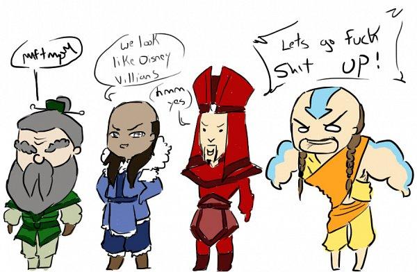 Tags: Anime, Avatar: The Last Airbender, Avatar: The Legend of Korra, Aang, Asklittlebloodykyoshi, O O, Fanart