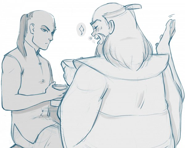 Tags: Anime, Oldbolo, Avatar: The Last Airbender, Iroh, Zuko, Uncle And Nephew, Uncle, Teenager, Sketch