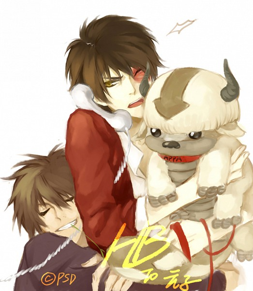 Tags: Anime, PSD, Avatar: The Last Airbender, Appa, Jet (Avatar: The Last Airbender), Zuko, Pixiv