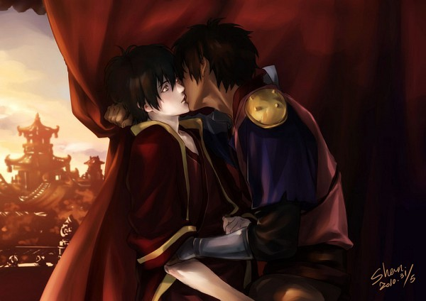 Tags: Anime, Shan, Avatar: The Last Airbender, Jet (Avatar: The Last Airbender), Zuko, Red Curtain, Shrine, Fanart, Pixiv
