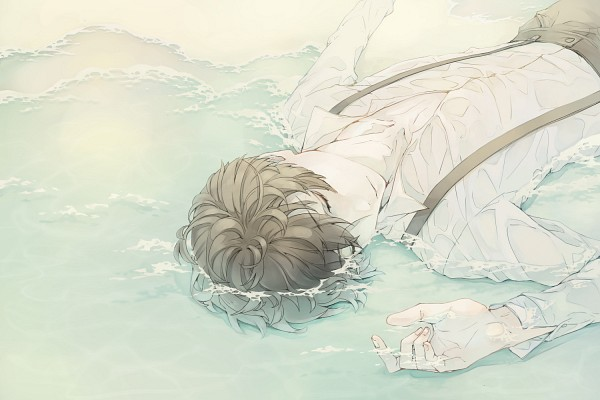 Tags: Anime, Pixiv Id 93443, 91 Days, Avilio (91 Days), Laying in Water, Send, Fanart From Pixiv, Pixiv, Fanart