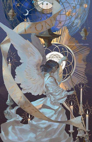 Tags: Anime, Awanqi, Banner, Sun (Symbol), Scepter, Saturn, Pixiv, Original