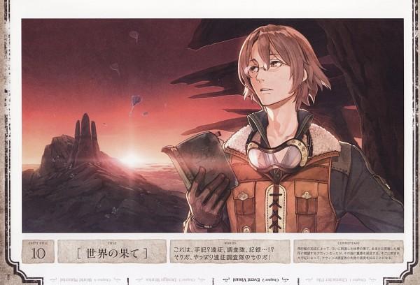 Tags: Anime, Hidari, Gust, Atelier Escha & Logy Official Visual Book, Atelier Escha & Logy, Awin Sidelet, Goggles Around Neck, Official Art, Scan