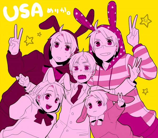 Tags: Anime, Shomi Kigen, Axis Powers: Hetalia, United Kingdom, United States, Fanart, Pixiv, Allied Forces