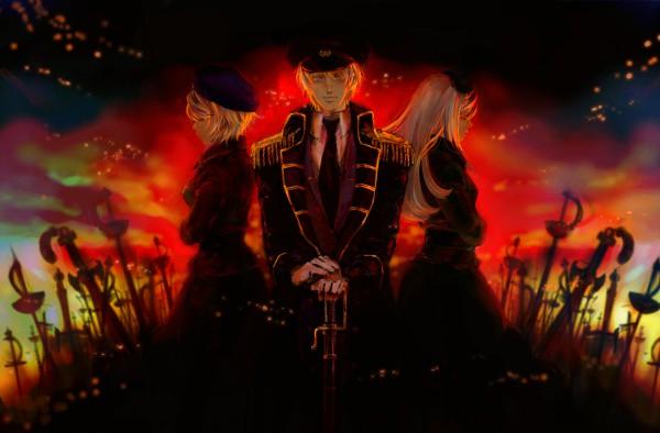 Tags: Anime, Pixiv Id 261168, Axis Powers: Hetalia, Ukraine, Russia, Belarus, War, Soviet Union, Allied Forces