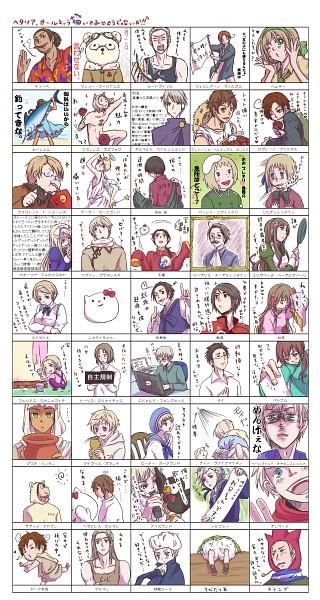 Tags: Anime, Choss, Axis Powers: Hetalia, North Italy, Sweden, Taiwan, Cuba, Estonia, Mr. Puffin, Sealand, Chibitalia, France, Germania