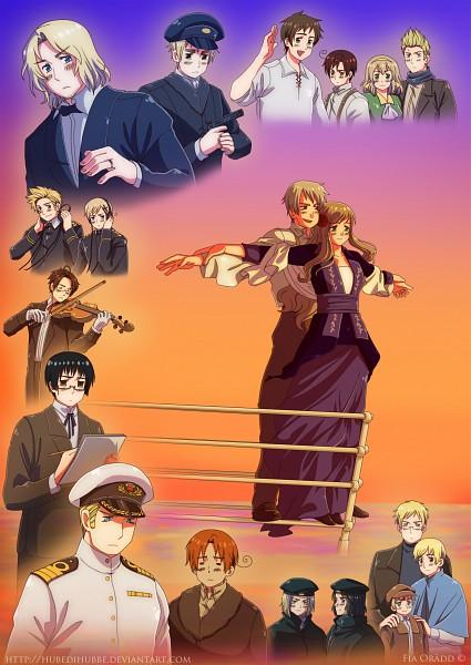 Tags: Anime, Hubedihubbe, Axis Powers: Hetalia, Titanic, Germany, France, Spain, Netherlands, North Italy, Poland, Japan, Austria, Belgium