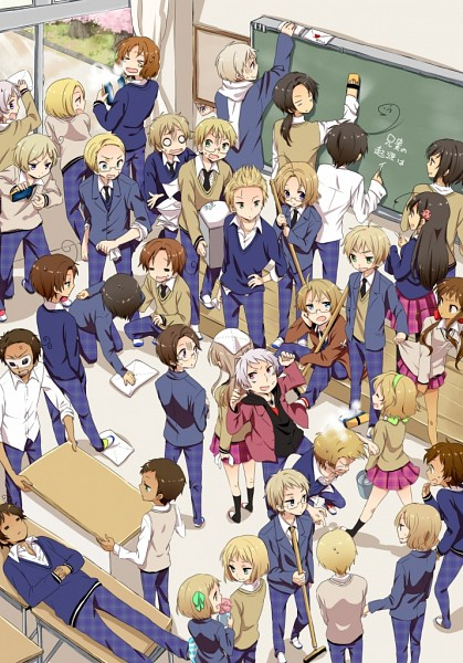 Tags: Anime, Pixiv Id 3398181, Axis Powers: Hetalia, Austria, Iceland, Japan, Russia, Turkey, South Korea, France, Germany, Netherlands, Taiwan