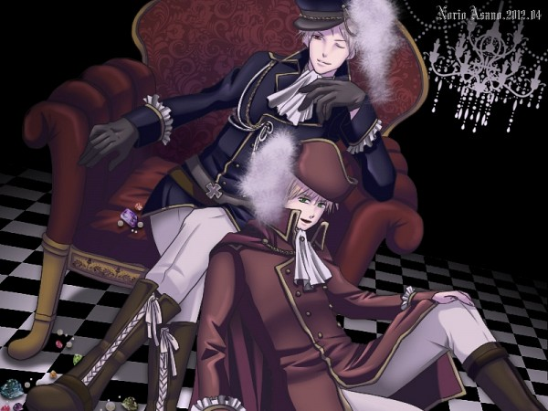 Tags: Anime, Pixiv Id 2324054, Axis Powers: Hetalia, United Kingdom, Prussia, Fanart From Pixiv, Fanart, Pixiv, Germanic Countries, Allied Forces