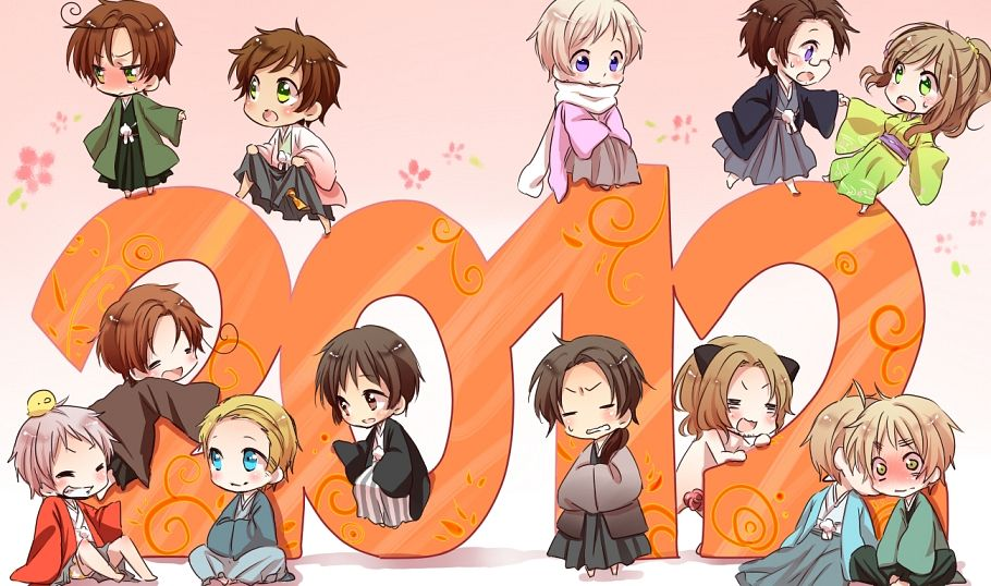 Tags: Anime, Pixiv Id 3398181, Axis Powers: Hetalia, Germany, Hungary, Spain, North Italy, France, Austria, Russia, Japan, United Kingdom, Prussia