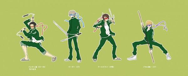 Tags: Anime, Tachibana (Pixiv130510), Teenage Mutant Ninja Turtles, Axis Powers: Hetalia, Estonia, Hong Kong, South Korea, Iceland, Peaceful, Teenage Mutant Ninja Turtles (Cosplay), Nunchaku, Facebook Cover, Fanart From Pixiv