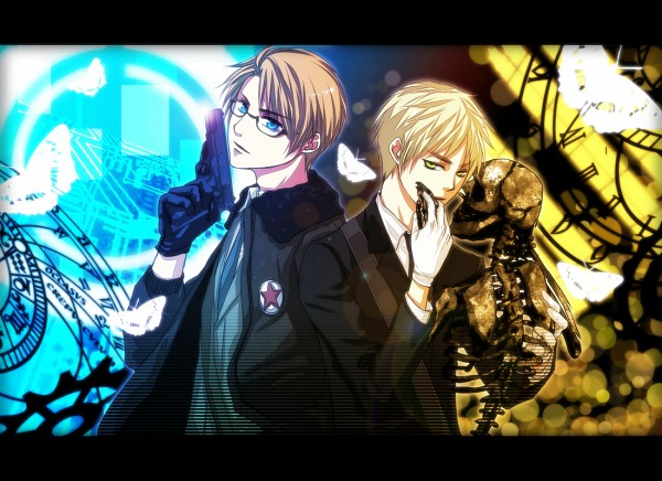Tags: Anime, Pixiv Id 3117322, Axis Powers: Hetalia, United Kingdom, United States, cosMo-p, ANTI THE∞HOLiC, Allied Forces