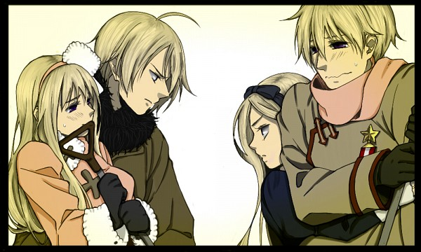 Tags: Anime, Axis Powers: Hetalia, Russia, Belarus (Male), Belarus, Russia (Female), Nyotalia, Soviet Union, RusBela