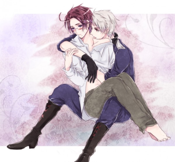 Tags: Anime, Outlaw, Axis Powers: Hetalia, Austria, Prussia, Fanart From Pixiv, Fanart, Pixiv, PrusAus