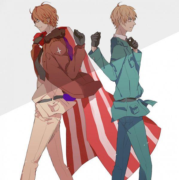Tags: Anime, Gomi Chiri, Axis Powers: Hetalia, United Kingdom, United States, Fanart, Pixiv, Fanart From Pixiv, Allied Forces
