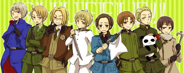 Tags: Anime, Axis Powers: Hetalia, Russia, United Kingdom, China, United States, France, Germany, Japan, North Italy, United States (Cosplay), United Kingdom (Cosplay), Japan (Cosplay)