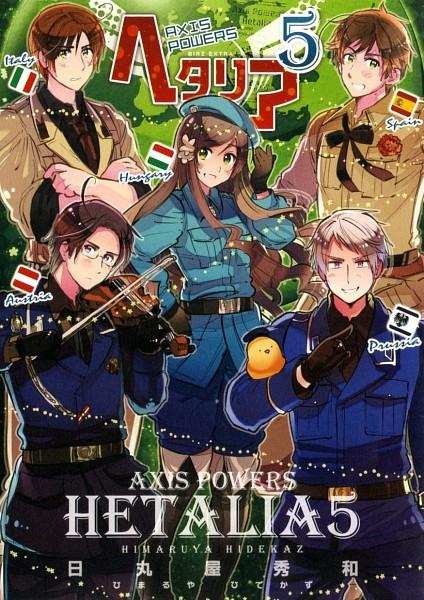 Tags: Anime, Himaruya Hidekaz, Axis Powers: Hetalia, Hungary, South Italy, Spain, Austria, Prussia, Gilbird, Mobile Wallpaper, Official Art, Mediterranean Countries