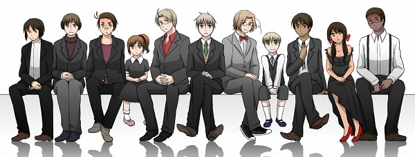 Tags: Anime, Pixiv Id 356824, Axis Powers: Hetalia, Australia, Sealand, India, United Kingdom, Cameroon, United States, New Zealand, Hong Kong, Principality of Wy, Canada