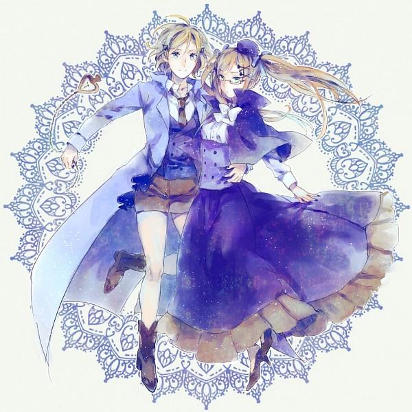 Tags: Anime, Pixiv Id 1370803, Axis Powers: Hetalia, United Kingdom (Female), United States (Female), King, Spade (Card), Cardverse, Nyotalia, Fanart