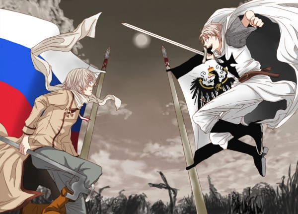 Tags: Anime, Tou-toto, Axis Powers: Hetalia, Russia, Teutonic Order, Prussia, Fanart, deviantART, Axis Power Countries, Allied Forces