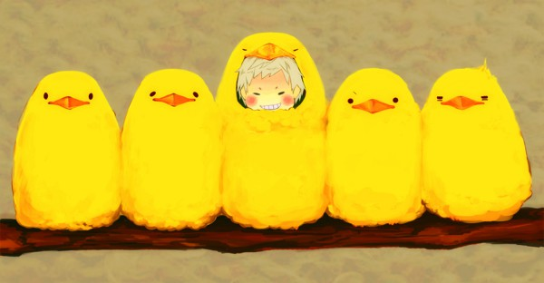 Tags: Anime, Pixiv Id 31602, Axis Powers: Hetalia, Gilbird, Prussia, Easter, Yellow, Eagle, Pixiv, Facebook Cover, Fanart, Fanart From Pixiv