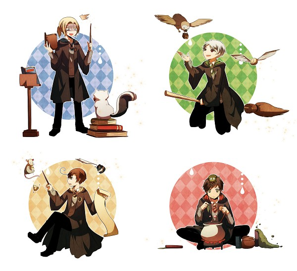 Tags: Anime, Jolly Jumpin Jellyfishes, Axis Powers: Hetalia, Prussia, France, South Italy, Spain, Harry Potter (Cosplay), Cheese, Harry Potter (Parody), Snitch, Turtle, Quidditch