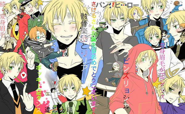 Tags: Anime, Mayuge100per, Axis Powers: Hetalia, Russia, United Kingdom, Prussia, United States, China, Germany, France, North Italy, Japan, United States (Cosplay)