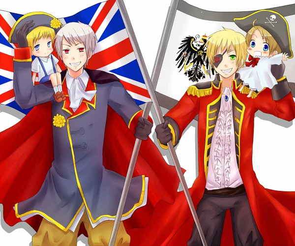 Tags: Anime, Teru, Axis Powers: Hetalia, Prussia, Holy Roman Empire, United Kingdom, United States, Allied Forces, Germanic Countries