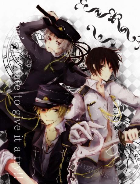 Tags: Anime, Axis Powers: Hetalia, United Kingdom, Prussia, Japan, Artist Request