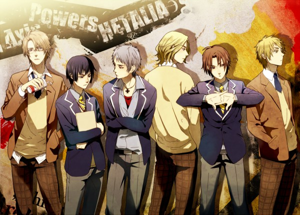 Tags: Anime, Fujiwara Ryo, Axis Powers: Hetalia, United Kingdom, France, United States, Japan, Germany, North Italy, Prussia, Iron Cross, McDonald's Meal, Gakuen Hetalia